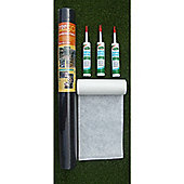 Weed Barrier, Joining Tape & 3 Adhesive Cartidges For Artificial Grass