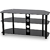 Stealth Mounts 800mm Black Glass TV Stand for TVs up to 40 inch