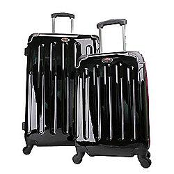 Swiss Case 4 Wheel Ez2c 2Pc Suitcase Set Pink