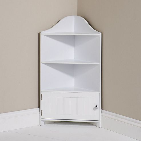 Mountrose County Farm Corner Cupboard in White