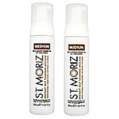 St Moriz Instant Self Tanning Mousse 2 x 200ml - Medium