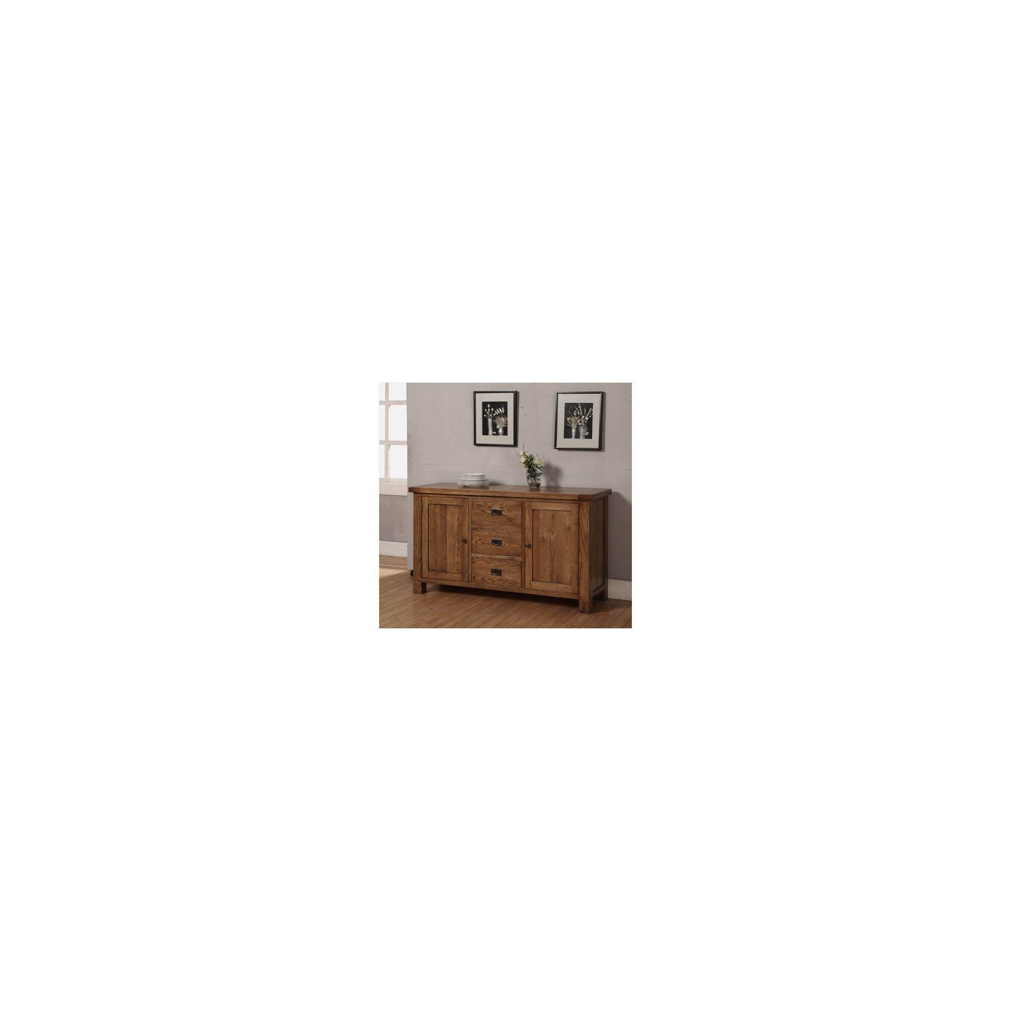 Hawkshead Brooklyn Three Drawer and Two Door Dresser in Rich Patina at Tesco Direct