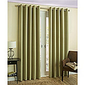 Byron Eyelet Blockout Lined Curtains Green - 168X137 cm