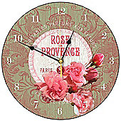 Smith & Taylor Rose De Provence Round Wall Clock in Apple Green