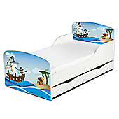 PriceRightHome Pirates Toddler Bed with Underbed Storage