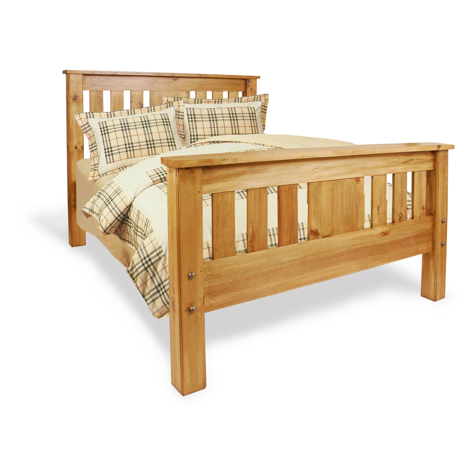 Oceans Apart Vintage Panel Bed Frame - Double at Tesco Direct