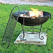 Homestead Living Phoenix Firebowl with BBQ Rack - 60 cm W x 60 cm D
