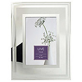 "Tesco Glass Frame With Silver Border 4""x6"""