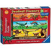 Deadliest Dinosaurs - 60 Piece Floor Puzzle