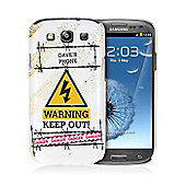 Personalised Keep Out Samsung S3 Case