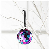 Tesco Holographic Sequin Bauble Hanging Decoration