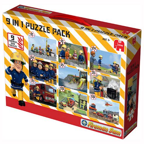 Jumbo Games Fireman Sam  9 In 1 Bumper Pack Of Jigsaw Puzzles