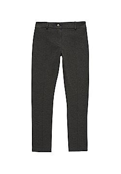 F&F School Girls Stretch Trousers - Grey