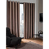 Logan Eyelet Thermal Blackout Curtains, Taupe 229x229cm