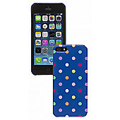 Trendz iPhone 5 and iPhone 5S Navy Polka Dot Hardshell Case With Gloss Finish
