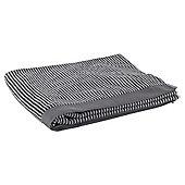 Tesco Grey Stripe Bath Sheet