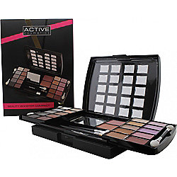 Active Glamour Beauty Booster Make Up Set - 20 x Eye Shadow, 2 x Blusher, 1 x Eyeliner, Applicators, Mirror
