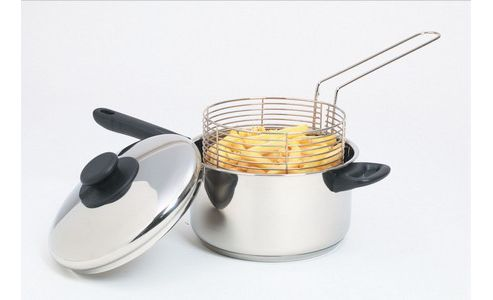 Kitchen Craft Stainless Steel Chip Pan - Silver