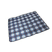 Confidence Camping Picnic Waterproof Blanket With Roll Bag 150Cm Outdoor Blue