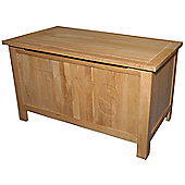 Kelburn Furniture Essentials Toy Box in Light Oak Stain and Satin Lacquer