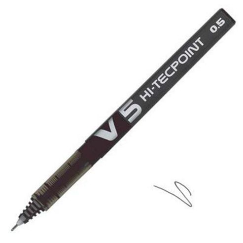 Pilot V5 Hi-tec Pen Black