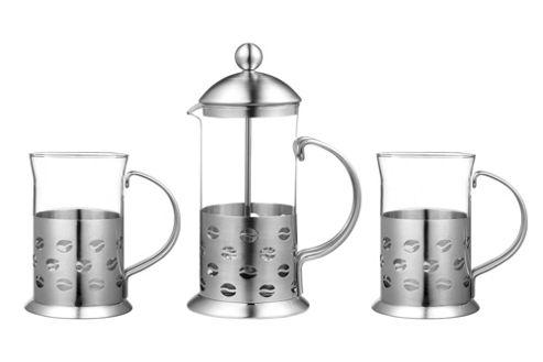 Premier Housewares 3 Piece Bean Design Cafetiere Set