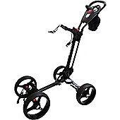 Golf Locker Mens Qwik Fold Quad 4-Wheel Golf Trolley in White