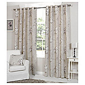 Viola Lined Eyelet Curtains - Purple