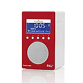 Tivoli Audio PAL+ Portable DAB FM Portable Radio, High Gloss Red