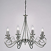 Endon Lighting Candle Chandelier in Antique Silver