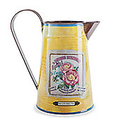 'Katie' Vintage Design Yellow Metal Jug Accessory for Home Decoration
