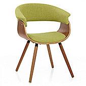 Grafton Dining Chair Walnut & Green
