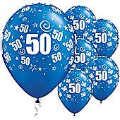 11' 50th Swirl Around Sapphire Blue (25pk)