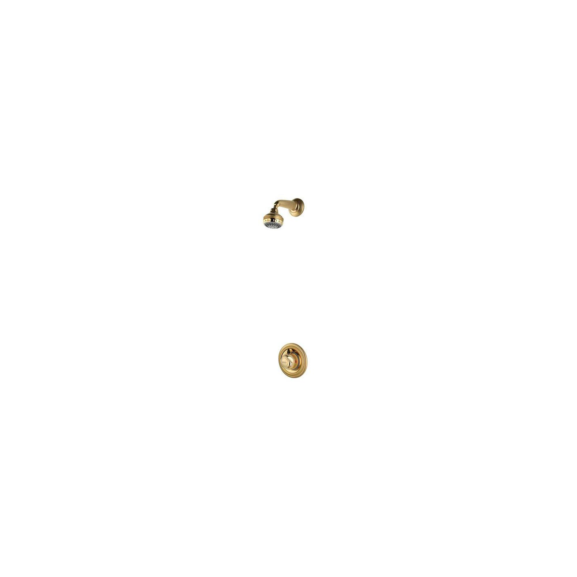 Aqualisa Aquavalve 609 Concealed Shower Valve with Fixed Shower Head Gold at Tesco Direct