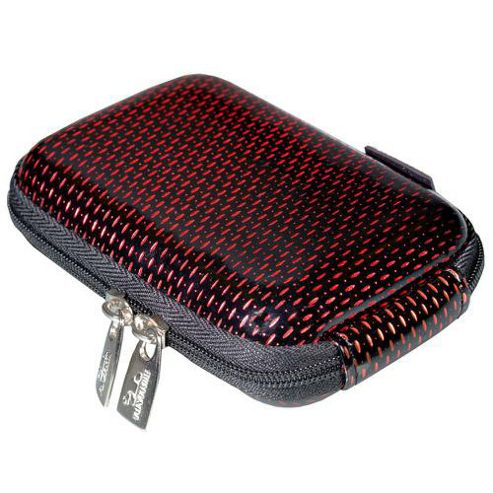 Rivacase Riva 7022AQ-01 Digital Camera Case, Black/Red