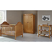 OBaby B is for Bear Double 3 Piece Room Set (Country Pine)