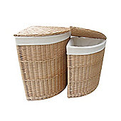 Wicker Valley Willow Corner Laundry Basket (Set of 2)