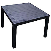 Keter Melody Rattan Effect Square Dining Table 90x90cm