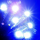 13.9m/45ft Chain of Battery Operated 200 Ice White LED Lights