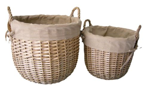 Wicker Valley Lined Linen Bin (Set of 2)