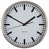 Karlsson Wall Clock Glass Printed Station Aluminium 30cm