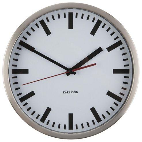 Buy Karlsson Wall Clock Glass Printed Station Aluminium