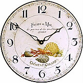 Roger Lascelles Clocks Fruits De Mer Wall Clock