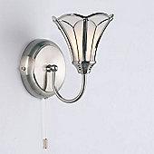 Endon Lighting One Light Wall Bracket in Satin Nickel (Shade Sold Separately)