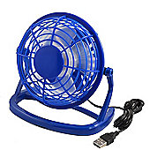 "Twitfish Plastic USB Desk Fan 4"" - Blue"