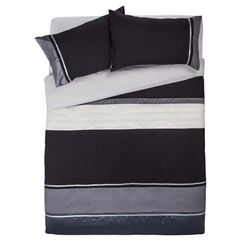 Tesco Cosmo Kingsize Size Duvet Cover Set, Black