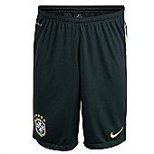 2014-15 Brazil Nike Longer Knit Shorts (Black) - Black