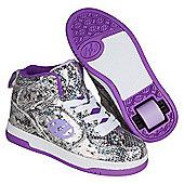 Flash 2.0 Snake Purple Metallic Heely X2 Shoe - Purple