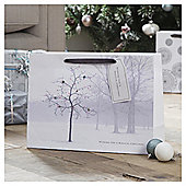 Tesco Woodland Landscape Christmas Gift Bag, Large