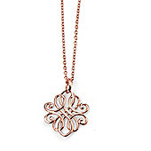 Rose Gold Plated Filigree Silver Necklace